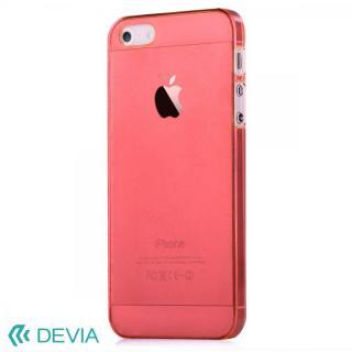 Smart ファッションカラークリアケース レッド iPhone SE/5s/5