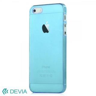 Smart ファッションカラークリアケース ブルー iPhone SE/5s/5