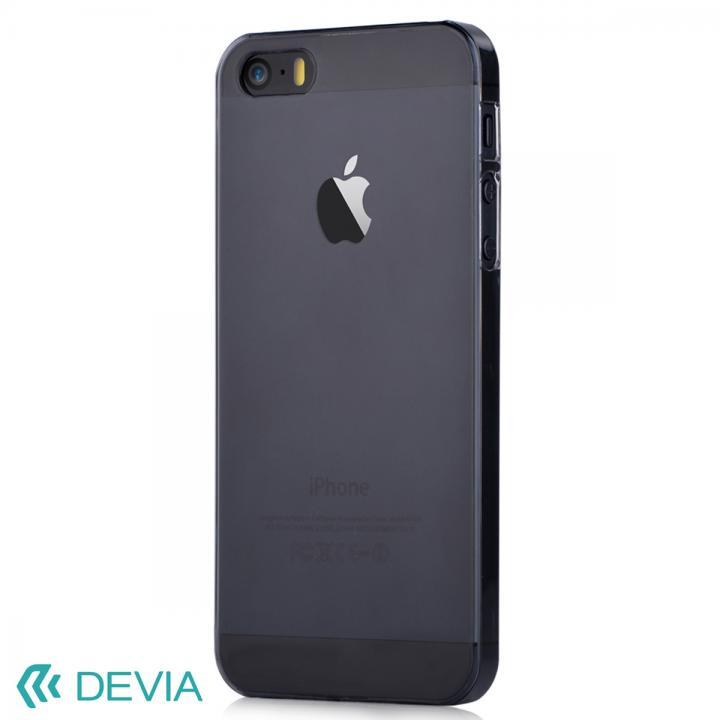 Smart ファッションカラークリアケース ブラック iPhone SE/5s/5