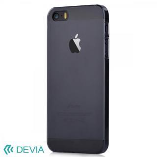 [強靭発売記念特価]Smart ファッションカラークリアケース ブラック iPhone SE/5s/5