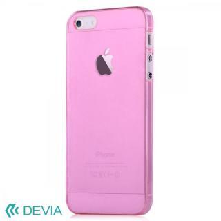 Smart ファッションカラークリアケース ピンク iPhone SE/5s/5