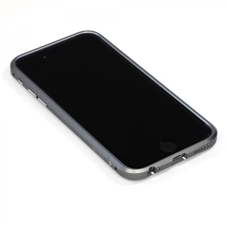 iPhone6 ケース 高精度アルミニウムバンパー CROY DECASE グレー iPhone 6_0