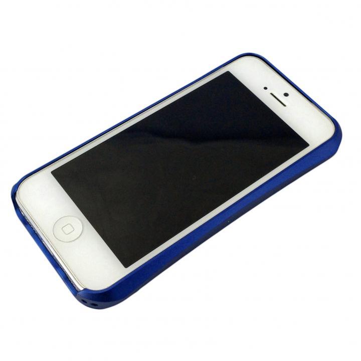 コスパ最高 アルミバンパーケース ネイビー iPhone 5s/5
