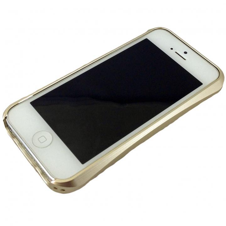iPhone SE/5s/5 ケース コスパ最高 アルミバンパーケース ゴールド iPhone SE/5s/5_0