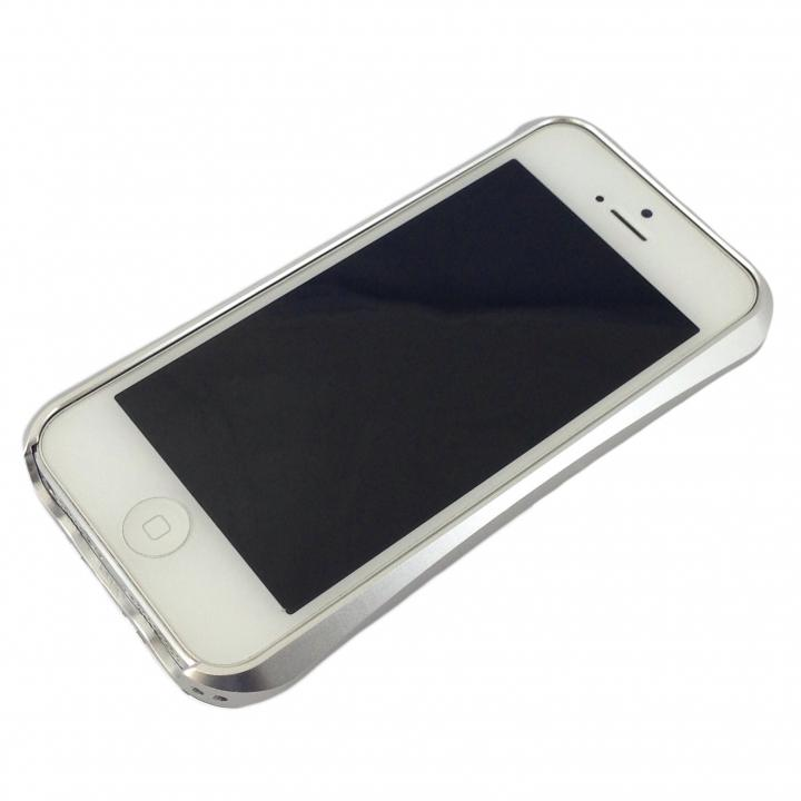 iPhone SE/5s/5 ケース コスパ最高 アルミバンパーケース シルバー iPhone SE/5s/5_0