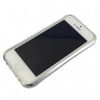 iPhone SE/5s/5 ケース コスパ最高 アルミバンパーケース シルバー iPhone SE/5s/5