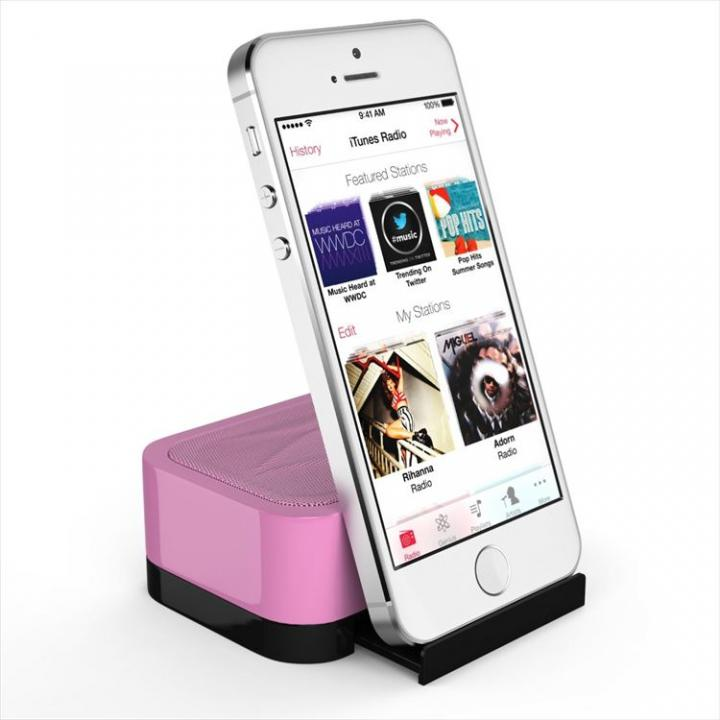 充電式スピーカースタンド スマートフォン & タブレット用 Satechi iFit-1 ピンク_0