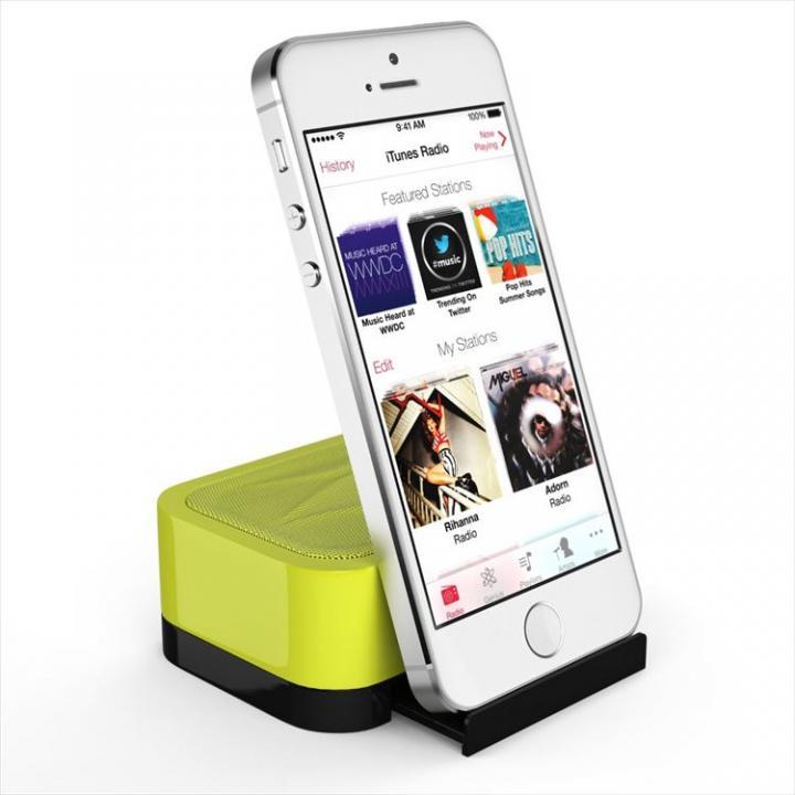 充電式スピーカースタンド スマートフォン & タブレット用 Satechi iFit-1 イエロー_0