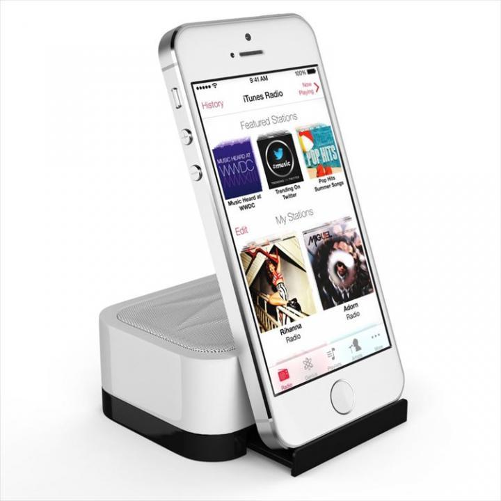 充電式スピーカースタンド スマートフォン & タブレット用 Satechi iFit-1 ホワイト