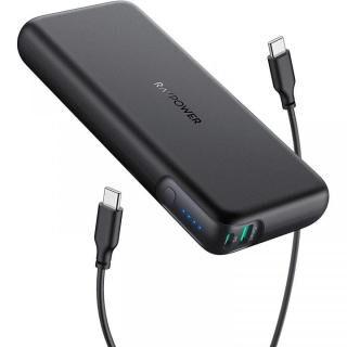 RAVPower RP-PB201 モバイルバッテリー 20000mAh PD対応 60W USB-A+USB-C ブラック【7月上旬】