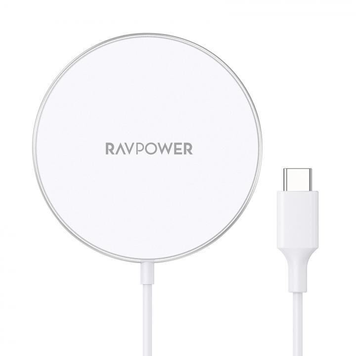 RAVPower RP-WC1003 最大15Wマグネット型ワイヤレス充電器 ホワイト_0