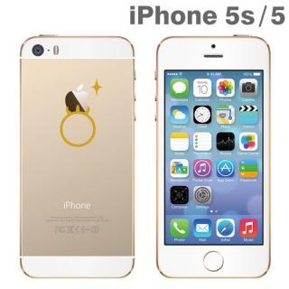 iPhone SE/5s/5 アップラスゴールドハードクリアケース(指輪)