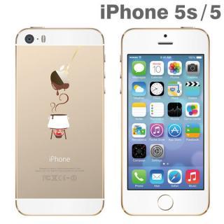 iPhone SE/5s/5 アップラスゴールドハードクリアケース(チョコフォンデュ)