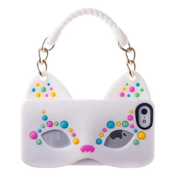 iPhone SE/5s/5 ケース iPhone SE/5s/5 シリコンケース Cat Woman ホワイト_0
