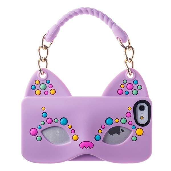 iPhone SE/5s/5 ケース iPhone SE/5s/5 シリコンケース Cat Woman パープル_0