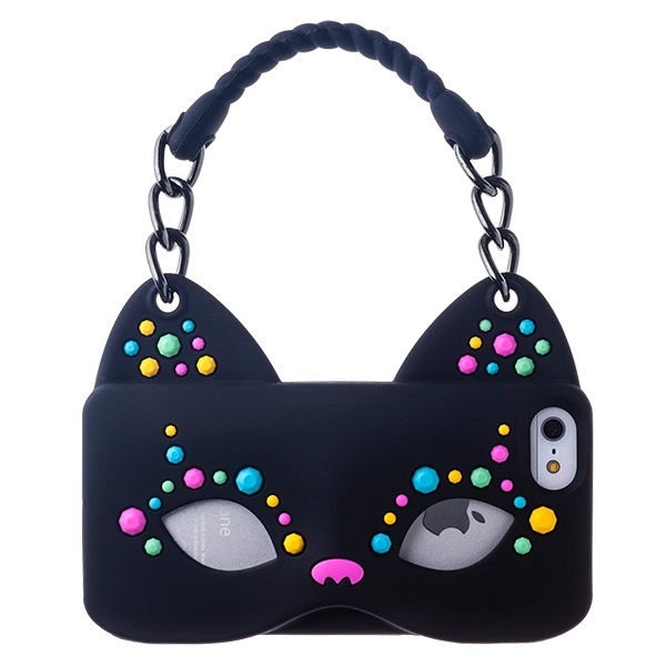 iPhone5/5s シリコンケース Cat Woman ブラック 送料無料