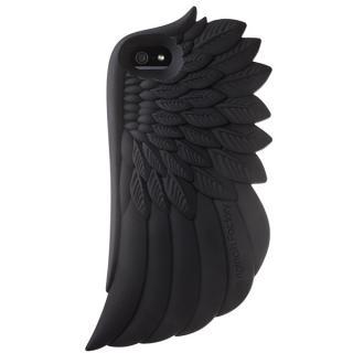 iPhone SE/5s/5 シリコンケース Wing ブラック