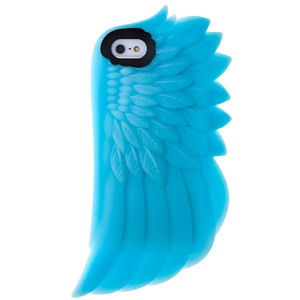 iPhone SE/5s/5 ケース iPhone SE/5s/5 シリコンケース Wing ブルー_0