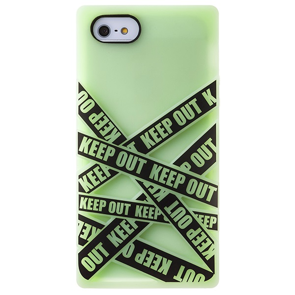iPhone SE/5s/5 ケース iPhone SE/5s/5 シリコンケース Keep Out ミント_0