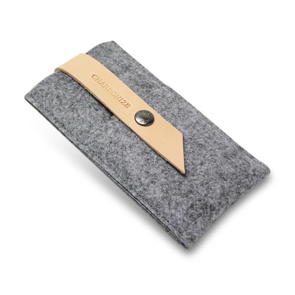 【iPhone6ケース】Charbonize レザー & フェルト ウォレットケース グレイ iPhone 6_0
