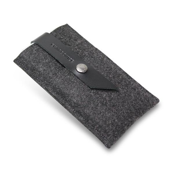 【iPhone6ケース】Charbonize レザー & フェルト ウォレットケース ブラック iPhone 6_0