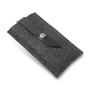 Charbonize レザー & フェルト ウォレットケース ブラック iPhone 6