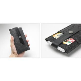 【iPhone6ケース】Charbonize レザー & フェルト ウォレットケース ブラック iPhone 6_3