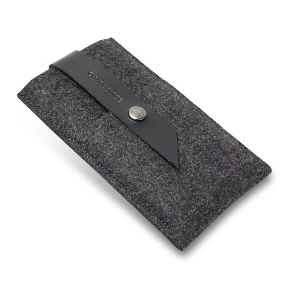 【iPhone6 Plusケース】Charbonize レザー & フェルト ウォレットケース ブラック iPhone 6 Plus_0