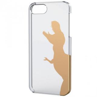 iPhone SE/5s/5用シェルケース(アップルテクスチャゴールド)ティラノサウルス