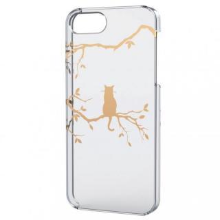 iPhone SE/5s/5用シェルケース(アップルテクスチャゴールド)木登り