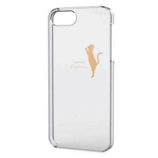 iPhone SE/5s/5用シェルケース(アップルテクスチャゴールド)ネコ