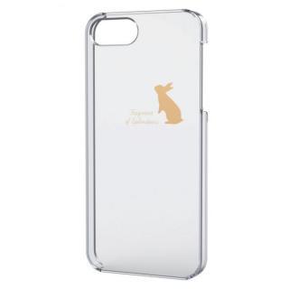 iPhone SE/5s/5用シェルケース(アップルテクスチャゴールド)ウサギ