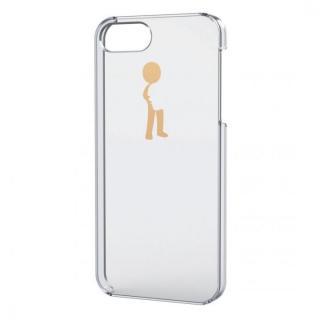 iPhone SE/5s/5用シェルケース(アップルテクスチャゴールド)ハグ