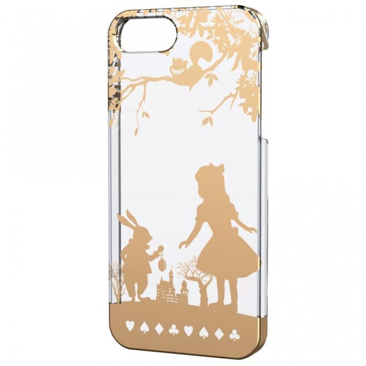 iPhone 5s/5用シェルケース アップルテクスチャゴールド アリス