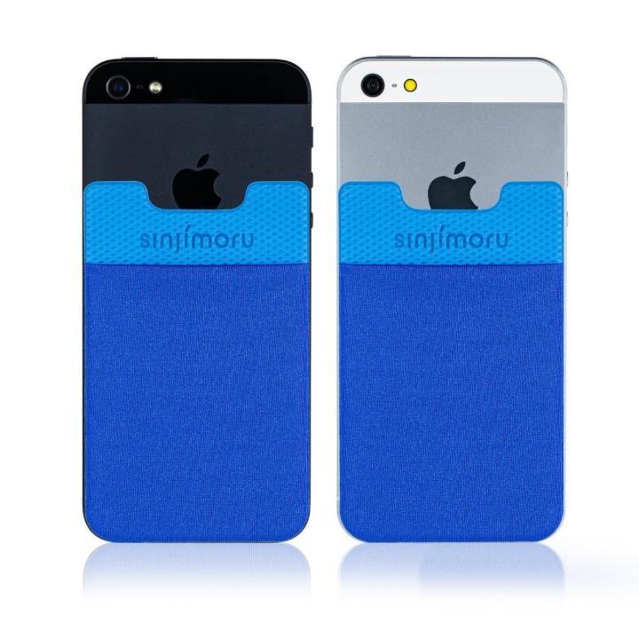 iPhone SE/5s/5 ケース SINJIPOUCH Basic2(シンジポーチベーシック2)ブルー エラー防止シート付_0