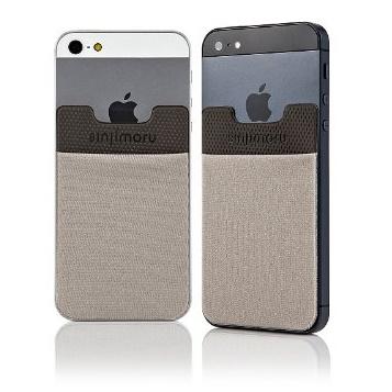 iPhone SE/5s/5 ケース SINJIPOUCH Basic2(シンジポーチベーシック2)グレー エラー防止シート付_0