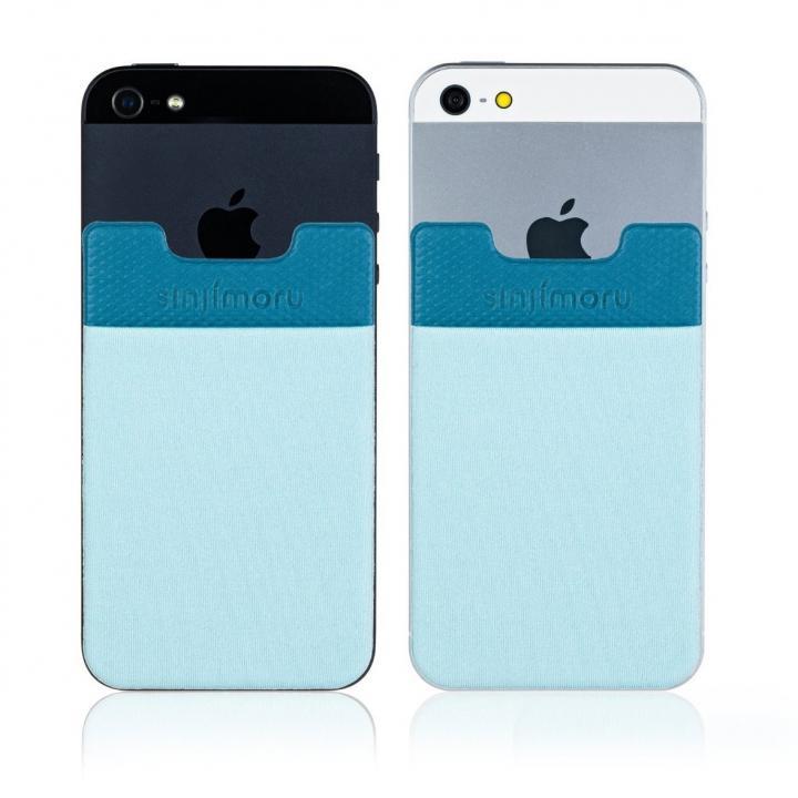 iPhone SE/5s/5 ケース SINJIPOUCH Basic2(シンジポーチベーシック2)ライトブルー エラー防止シート付_0