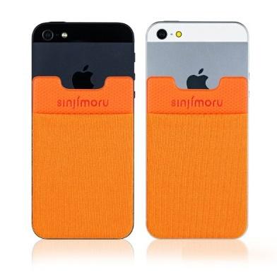 【iPhone SE/5s/5ケース】SINJIPOUCH Basic2(シンジポーチベーシック2)オレンジ エラー防止シート付_0