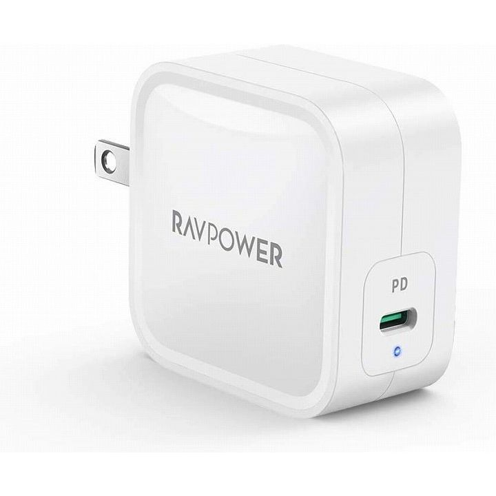 RAVPower 61W USB-C 急速充電器 世界最小最軽量クラス GaN (窒化ガリウム)採用/PD対応 ホワイト【4月中旬】_0