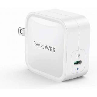 RAVPower 61W USB-C 急速充電器 世界最小最軽量クラス GaN (窒化ガリウム)採用/PD対応 ホワイト【4月中旬】