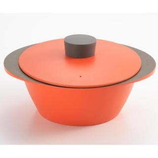 EAトCO NABE アルミ調理鍋 オレンジ