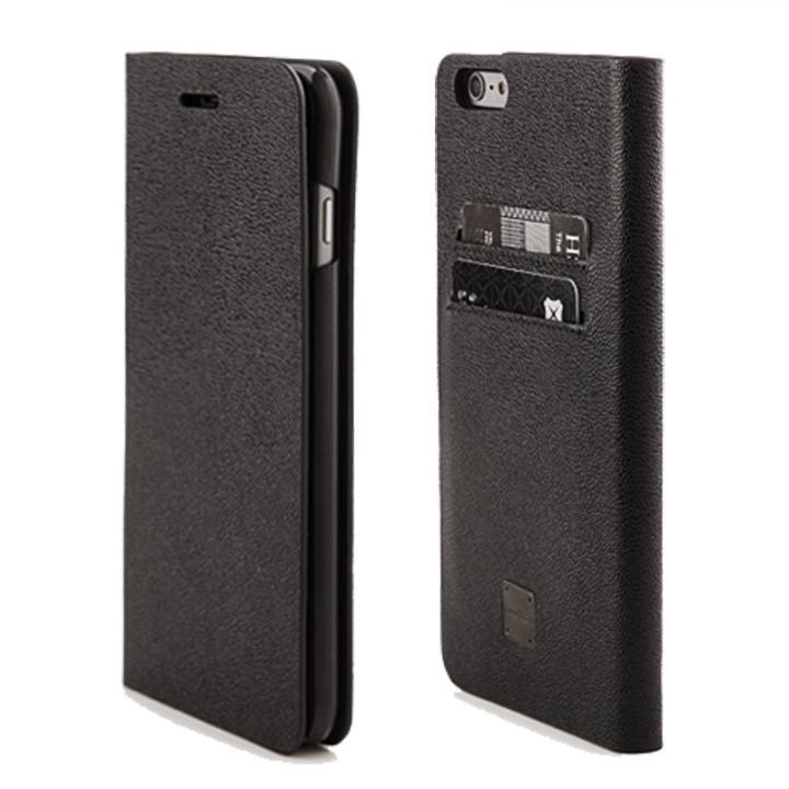 ICカード対応手帳型ケース Intelligence ブラック iPhone 6 Plus