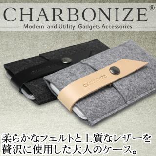 【iPhone6ケース】Charbonize レザー & フェルト ウォレットケース グレイ iPhone 6_1
