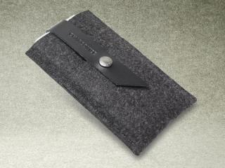 【iPhone6ケース】Charbonize レザー & フェルト ウォレットケース グレイ iPhone 6_2