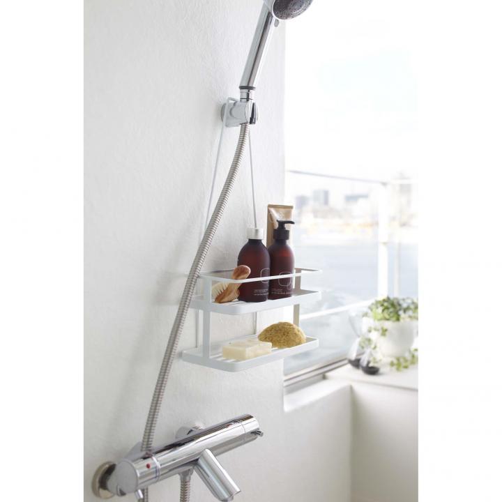 シャワーヘッドラックタワー ホワイト_0