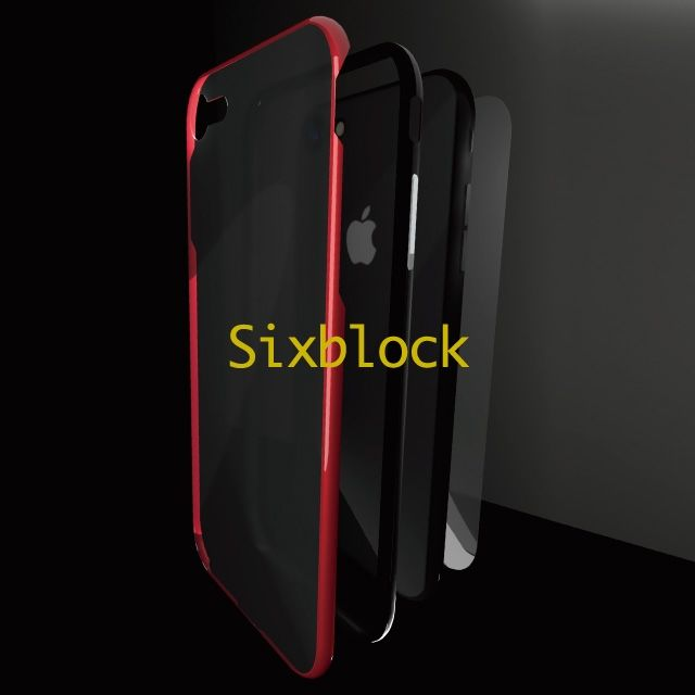 iPhone8/7 ケース Sixblock 耐衝撃ケース レッド iPhone 8/7_0