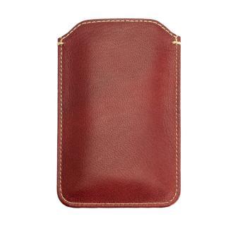 【iPhone6ケース】カード入れ付き山羊革スリーブケース レッド×ホワイト iPhone 6_2