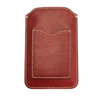 【iPhone6ケース】カード入れ付き山羊革スリーブケース レッド×ホワイト iPhone 6_3