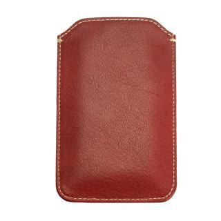 【iPhone6ケース】ポケット付山羊革スリーブケース レッド×ホワイト iPhone 6_2