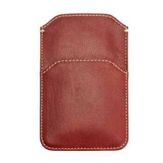 【iPhone6ケース】ポケット付山羊革スリーブケース レッド×ホワイト iPhone 6_3